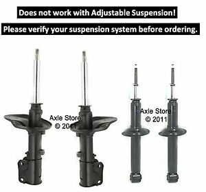 4 New Struts Shocks Full Set OE Repl. Ltd Lifetime Warranty 3000GT #40279