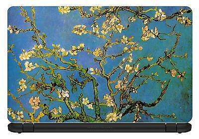 "TaylorHe 13/""-14/"" Laptop Skin Vinyl Sticker Decal Classic Painting Almond Blossom"