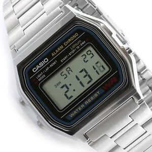 1a080a34567 Casio digital watch retro unisex A158 A158W A158WA A158WA-1DF UK ...