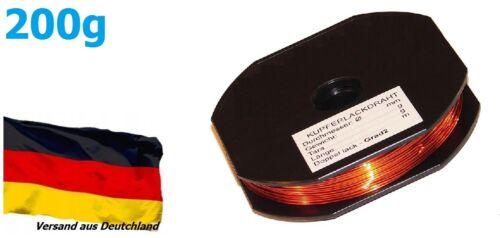 200 g 7,2 M-cuivre lackdraht CU lackdraht ø 2,00 mm