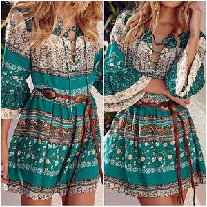 Women-Summer-Boho-Floral-Printed-Evening-Party-Beach-Short-Mini-Dress-Sundress