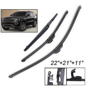 3Pcs-Front-Rear-Windscreen-Wiper-Blades-Kit-For-Jeep-Grand-Cherokee-WK2-13-20