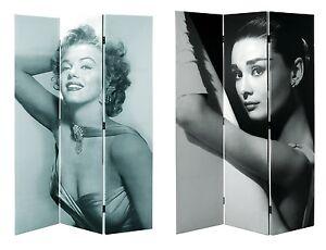 Room Divider Audrey Hepburn Marilyn Monroe American 50s Diner