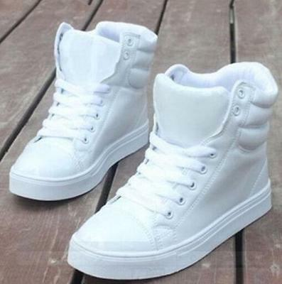 Fashion Womens Hip Hop High Top  Lace Up Sneakers Dance athletic casual Shoes