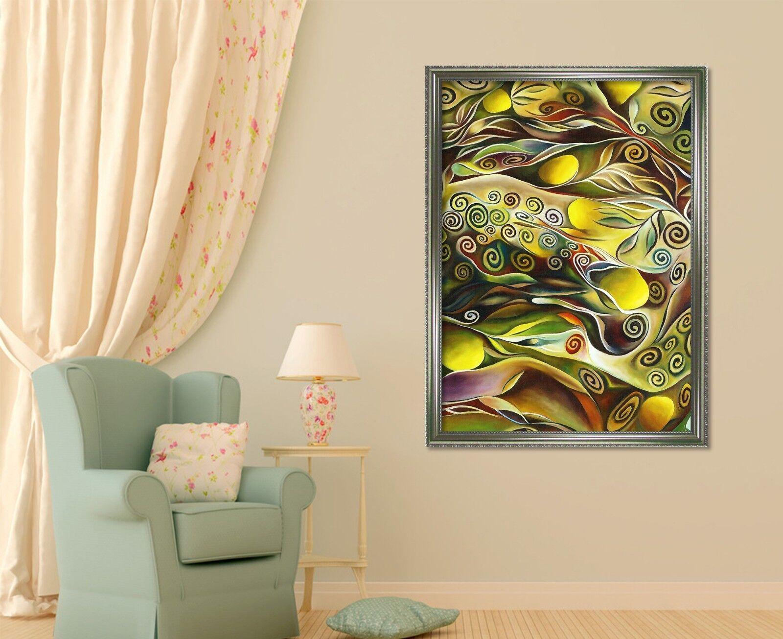 3D Circle Pattern 51 Framed Poster Home Decor Print Painting Art AJ UK