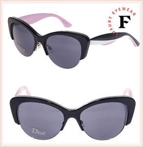 baee537fa26 CHRISTIAN DIOR ENVOL 1 Cat Eye asymmetrical Black Pink White Envol ...