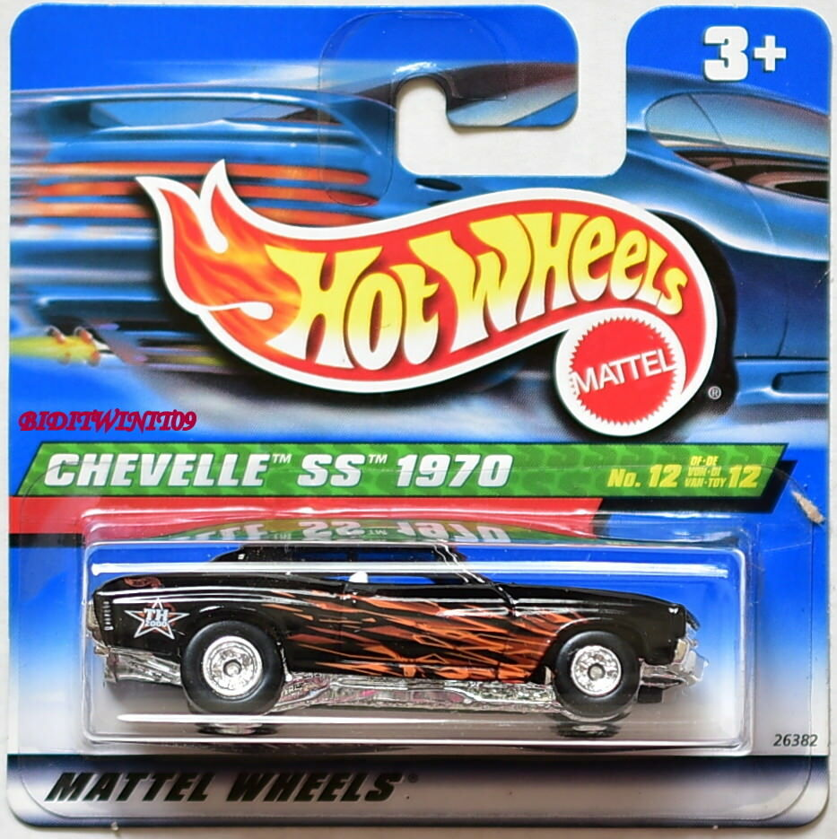 HOT WHEELS 2000 TREASURE HUNT CHEVELLE SS 1970  12 SHORT CARD W+