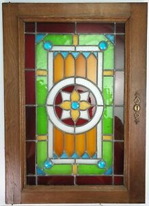 Cabinet Door Leaded Stained Gl Panel