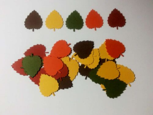 AUTUMN FALL LEAVES LOT OF 200 CONFETTI DIE CUTS EMBELLISHMENTS SCRAPBOOKING #566