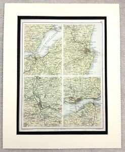 1899-Antique-Map-of-Scotland-Inverness-Aberdeen-Dundee-19th-Century-Original