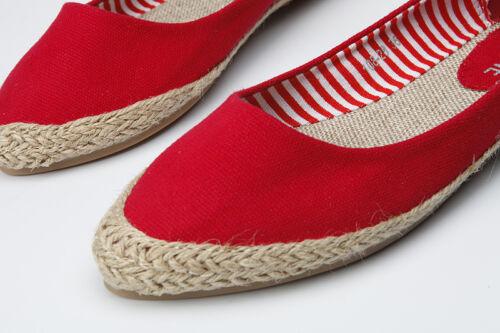 Femmes Mocassins Espadrilles bout pointu toile Slip-on Flats Respirant Chaussures Bateau
