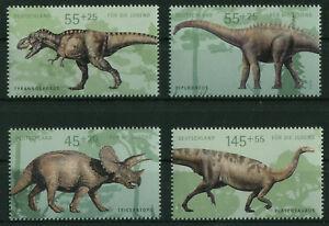 Bund-2687-2690-sauber-postfrisch-Block-73-Dinosaurier-Einzelmarken-2008-MNH