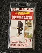 NEW  SQUARE D HOMELINE HOM115GFIC HOM115GFI 15A GFCI GFI BREAKER NEW