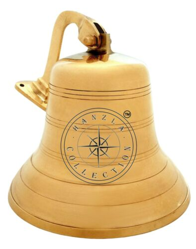 """Details about  /Polished Brass Maritime Titanic Ship Bell 7/"""" Wall Hanging Nautical Boat Decor"""