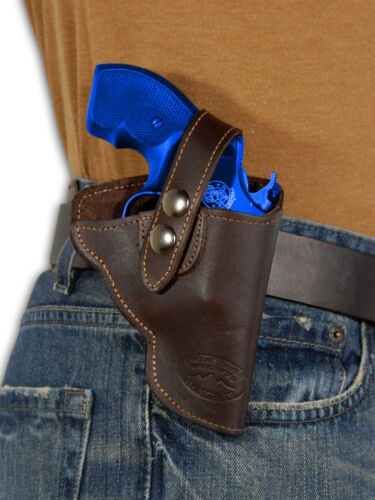 """NEW Barsony Brown Leather OWB Gun Holster for Ruger 22 38 357 Snub Nose 2/"""" Rev"""