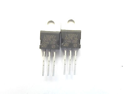 2 PCS 0.5A 78M10 7810 TO-220 Voltage Regulator 10V