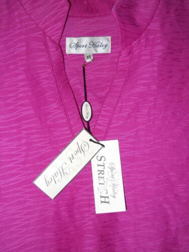 Haley Stretch Sport Xsmall Fuchsia 718880922465 New Top Shirt Womens Blouse XIdrdn