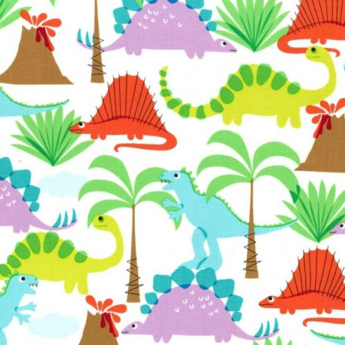 Fat Quarter Land of the Lost Dinosaur Cotton Quilting Fabric Michael Miller