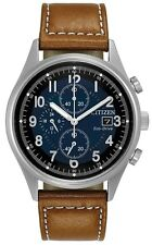 Citizen Eco-Drive Chandler Leather Chronograph Mens Watch CA0621-05L