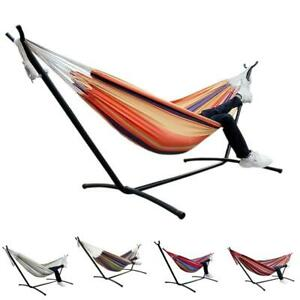 NEW-Double-2-Person-Outdoor-Garden-Hammock-Portable-Camping-Swing-Fabric-Bed