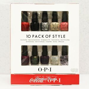 OPI-COCA-COLA-Mini-10-PACK-OF-STYLE-Collection-Perfect-Ten-Set-TAKE-TOP-TEN