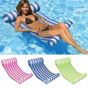 Water-Hammock-Pool-Lounge-Bed-Chair-Inflatable-Floating-Float-Summer-Swimming