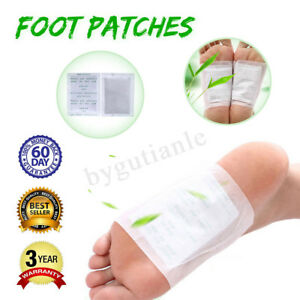 2-100PCS-Premium-Detox-Foot-Patches-Pad-Natural-Plant-Toxin-Removal-Sticky-Set
