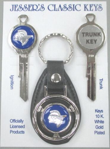 Pontiac Blue INDIAN CHIEF B10 Classic White Gold Keys Set 1960 1961 1962 1963
