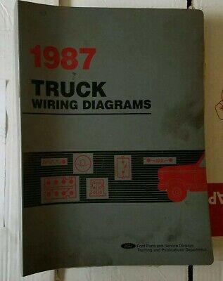 1987 ford truck HUGE wiring diagrams f150-f350 bronco f600 f800 ranger c  series   eBay