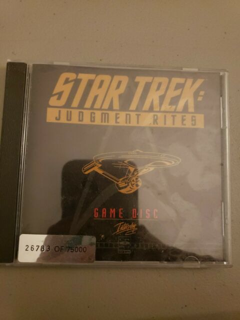 STAR TREK Judgment Rites Limited CD-Rom Collectors Edition PC Game 1995 #/75,000
