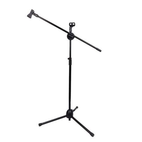H3 Stative Metallische Stuetze Metall Staenderhalterung Zweikoepfige Mikrofon-Ha
