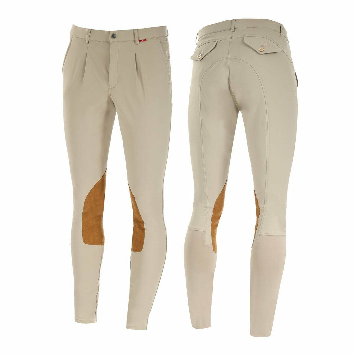 B Vertigo Sander Uomo Pelle Pelle Pelle Knee Patch Breeches Safari Size 30 1ad2f7