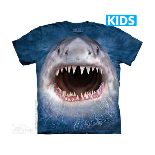 THE MOUNTAIN WICKED NASTY SHARK WEEK ANIMAL OCEAN YOUTH KIDS TEE T SHIRT S-XL
