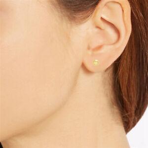 10K-Real-Yellow-Gold-5-mm-Ball-Stud-Earrings-Shiny