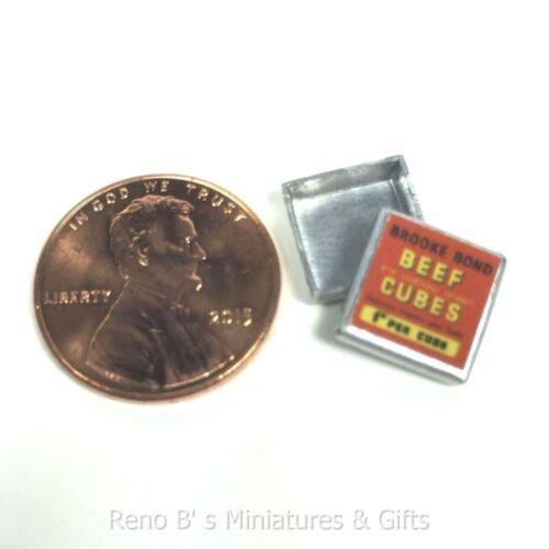 Dollhouse miniature food 1:12 Beef Cubes Tin NEW