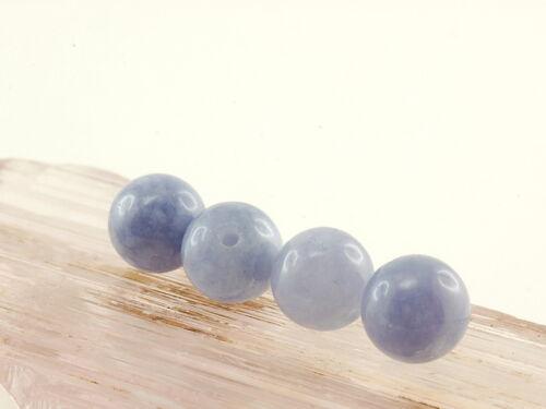 4x Aquamarin-sfere, 8 mm, Viola/5035s