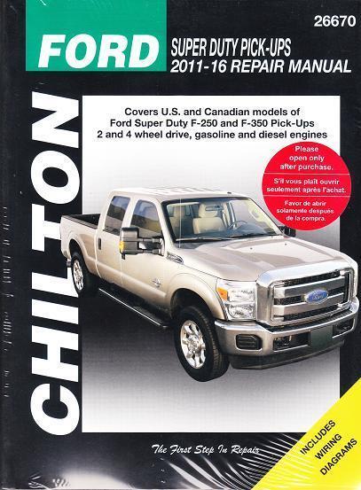 F350 Diesel For Sale >> 2011 2016 Ford F250 F350 Diesel 4x4 Superduty Repair Service Shop Manual 2630