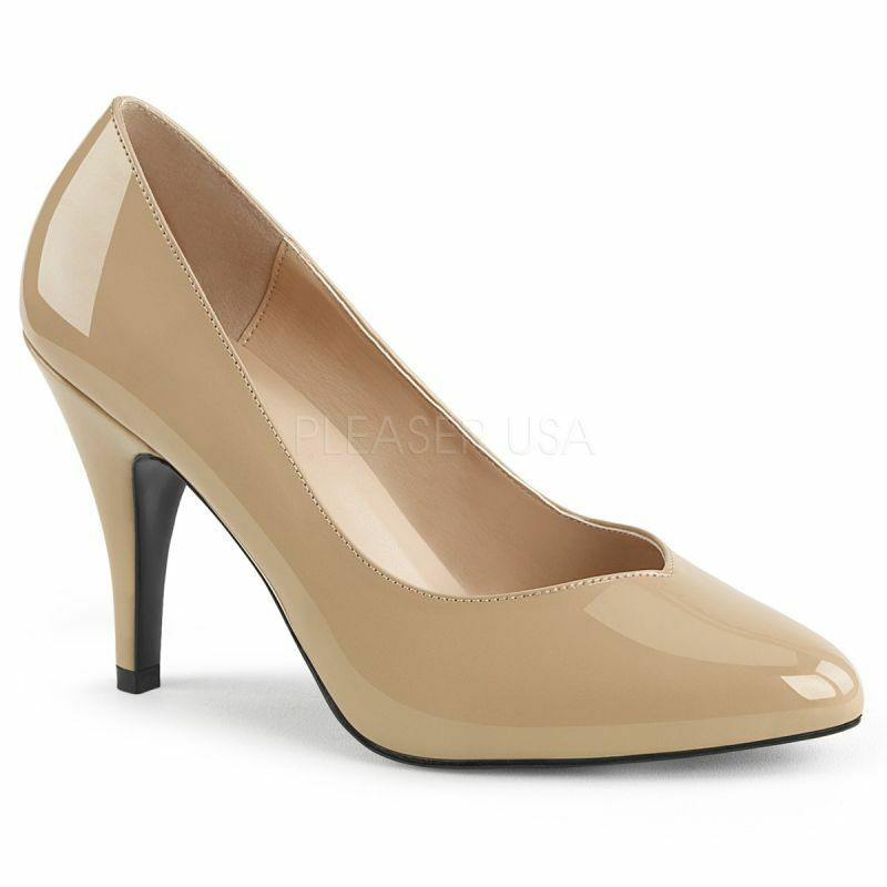 PLEASER DREAM-420 Pump Beige Lack Klassisch Elegant Abendschuh Business Gogo ...