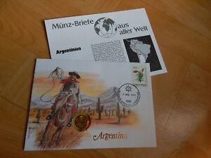 1 X Münz-briefe Aus Aller Welt Argentinien 2