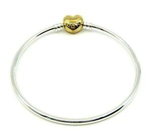 Authentic Pandora Shine Moments Heart Clasp Bangle Bracelet Size 19 Ebay