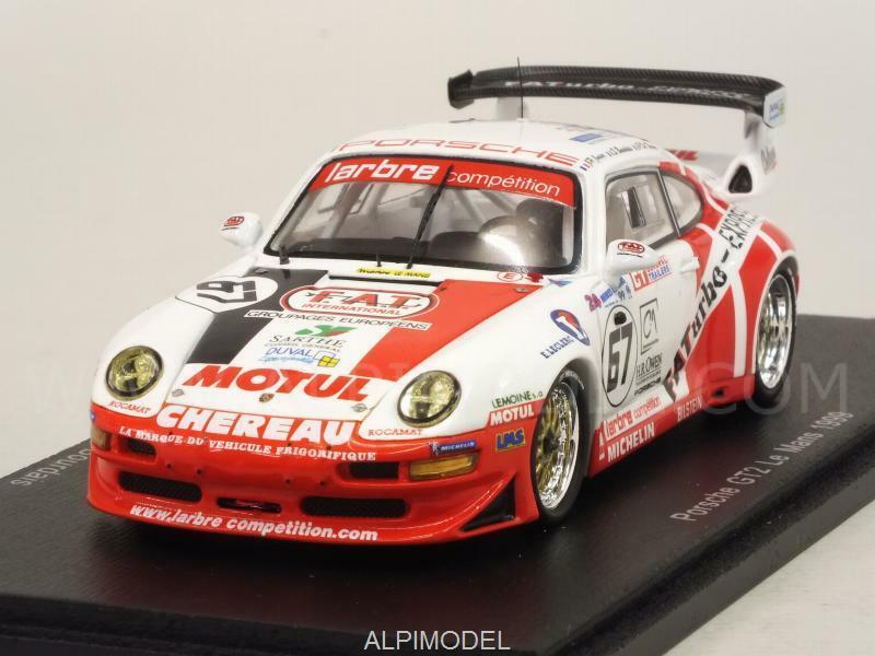 Porsche 911 GT2 Le Mans 1999 De Thois y- Jarier - Burdais 1 43 SPARK S4450