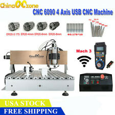 New Listing2200w 6090 4axis Cnc Router Cnc Milling Mach3 Usb Cutting Engraving Machine Usa
