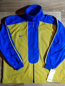 NIKE-90-039-s-Vintage-Mens-Basketball-Tracksuit-Top-Jacket-Training-Blue-Yellow-Tags