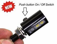 LED Panel Post Light w/ SWITCH 12 VDC - Waterproof & Vibration Proof - RED LED