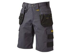 DeWalt DEWCHEV Cheverley Lightweight Work Wear Polycotton Shorts - Grey