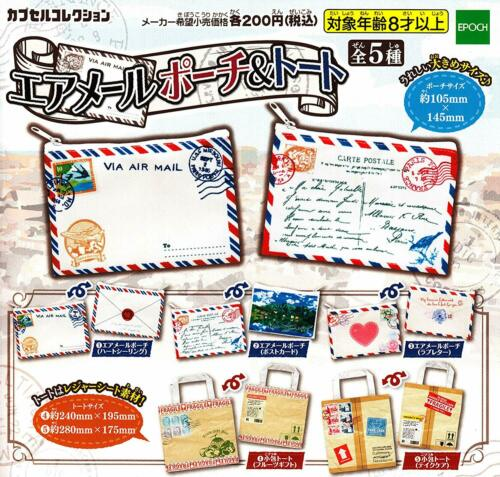 epoch air mail pouch /& Tote Gashapon 5 set Pouch /& Tote capsule toys