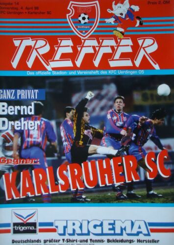 Programm 1995//96 KFC Uerdingen Karlsruher SC