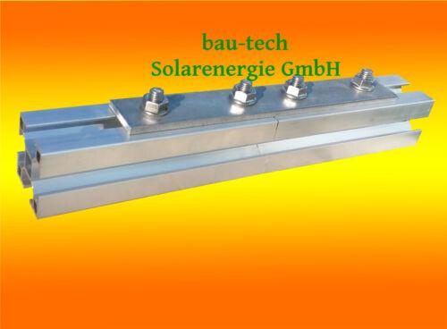 10 Stück Profil Verbinder Edelstahl A2 Alu Profil Schiene Photovoltaik Montage