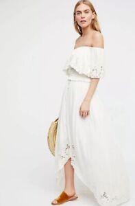 8a8f79b42331 NEW Free People Fillyboo Wonderland Maxi Skirt Size XS Ivory Wonder ...