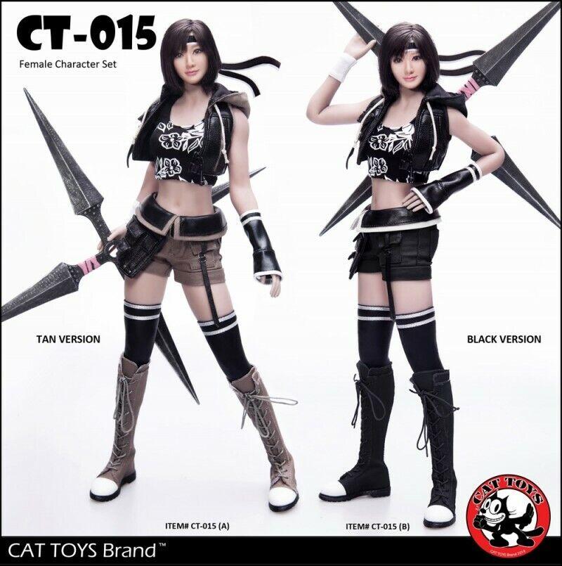 CAT TOYS 1 6 lucha Niña Talla De Cabeza & Ropa Set sin cuerpo CT015B Coleccionable